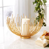 Gold Wildflower Candle Holder