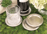 Antique Silver Finish Coasters