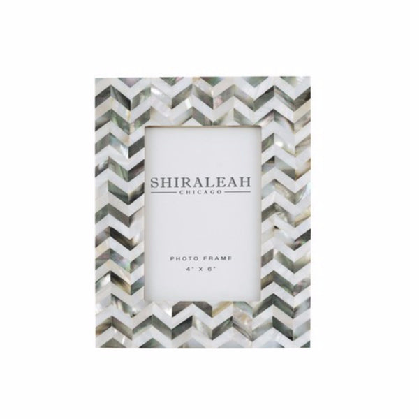 4 x 6 Mother of Pearl (MOP) Chevron Picture Frame