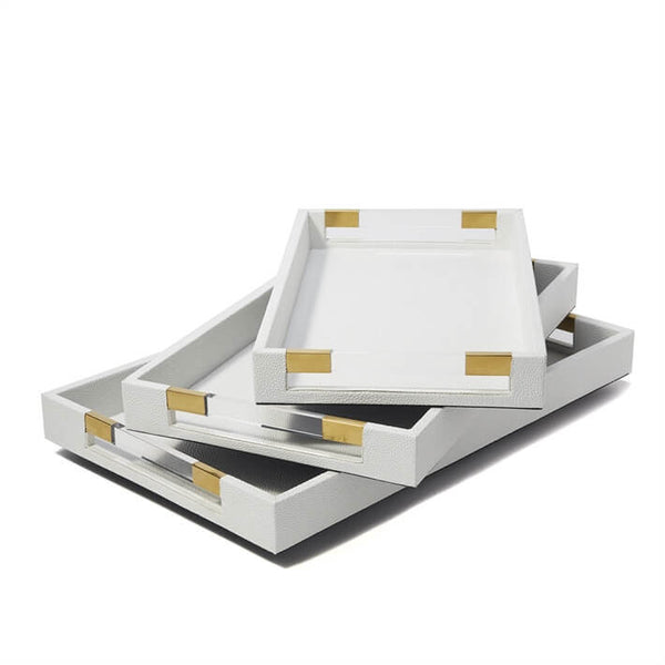 Rectangular Stingray Trays with Acrylic Handles