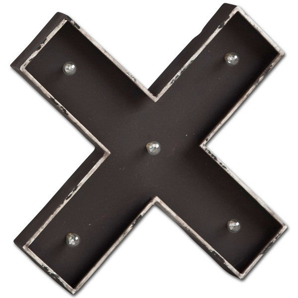 "Letter ""X"" Wall Decor with Lights"