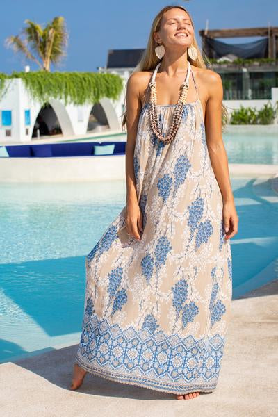 Bali Queen, Coco Rose, Resort Wear, Pool Wear, Bathing suit coverup, summer, summer style, block print, bali, travel, boho style,maxi dress, nakula collection,