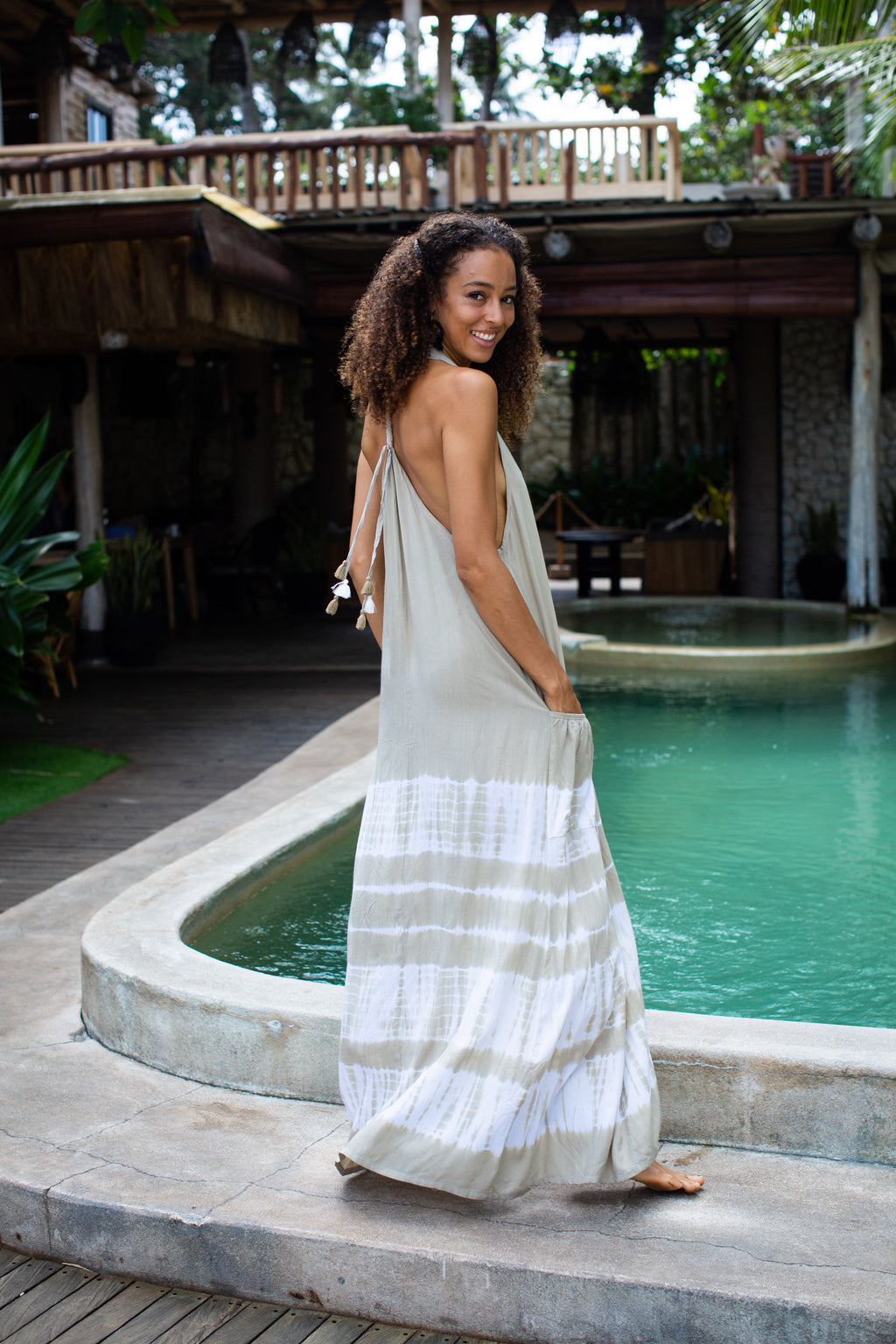 Bali Queen, Coco Rose, Resort Wear, Pool Wear, Bathing suit coverup, summer, summer style, boutique, bali, travel, boho style, genie, Malibu, tie dye, maxi dress, sundress