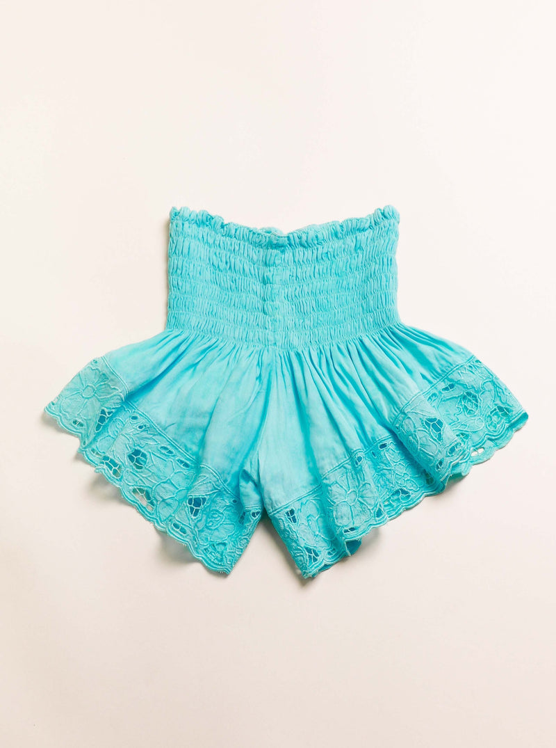 Bali Queen, Coco Rose, Resort Wear, Pool Wear, Bathing suit coverup, summer, summer style, boutique, bali, travel, boho style, travel, surfy short, tiere Hawaii, eyelet, eyelet shorts, one size shorts