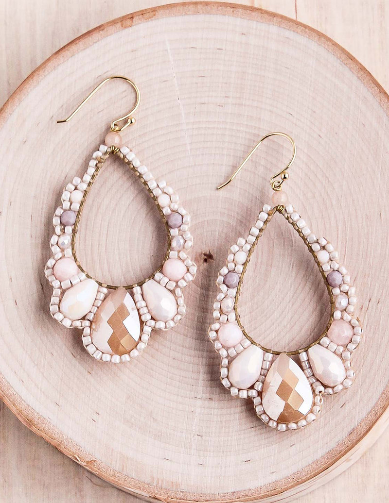 Thai Crystal Teardrop Earrings