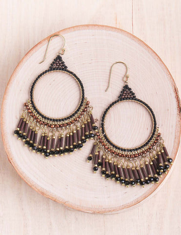 Crystal Tassel Thai Earrings