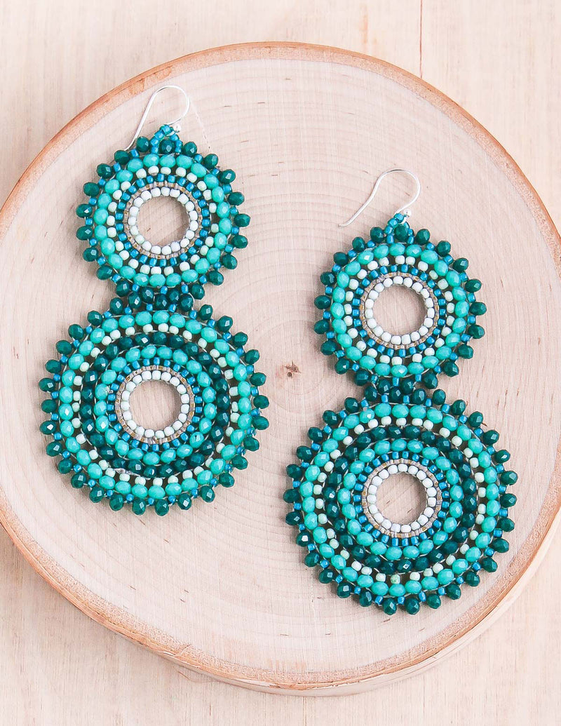 Woven Thai Geometric Earrings