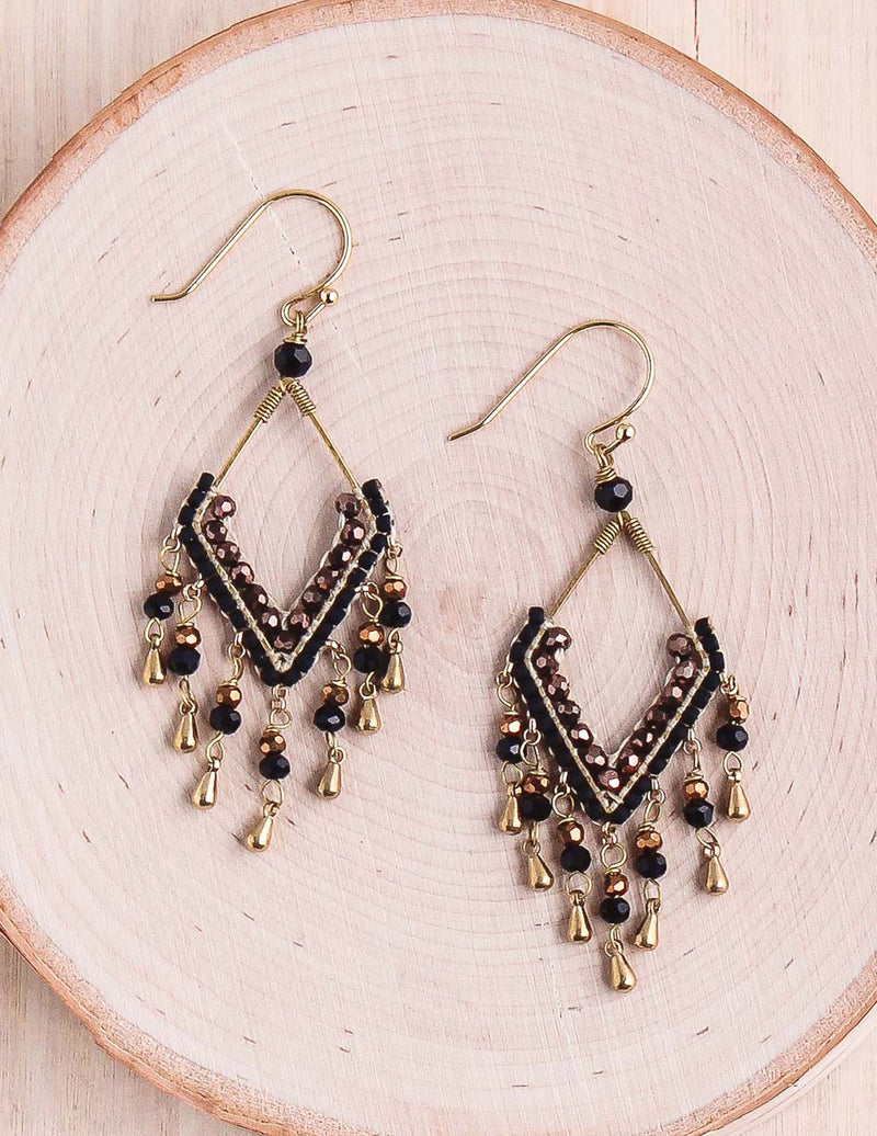 Crystal Drop Thai Earrings