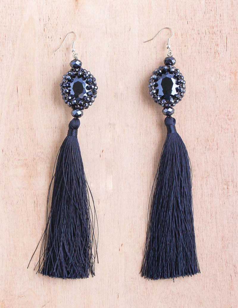 Statement Thai Tassel Earrings