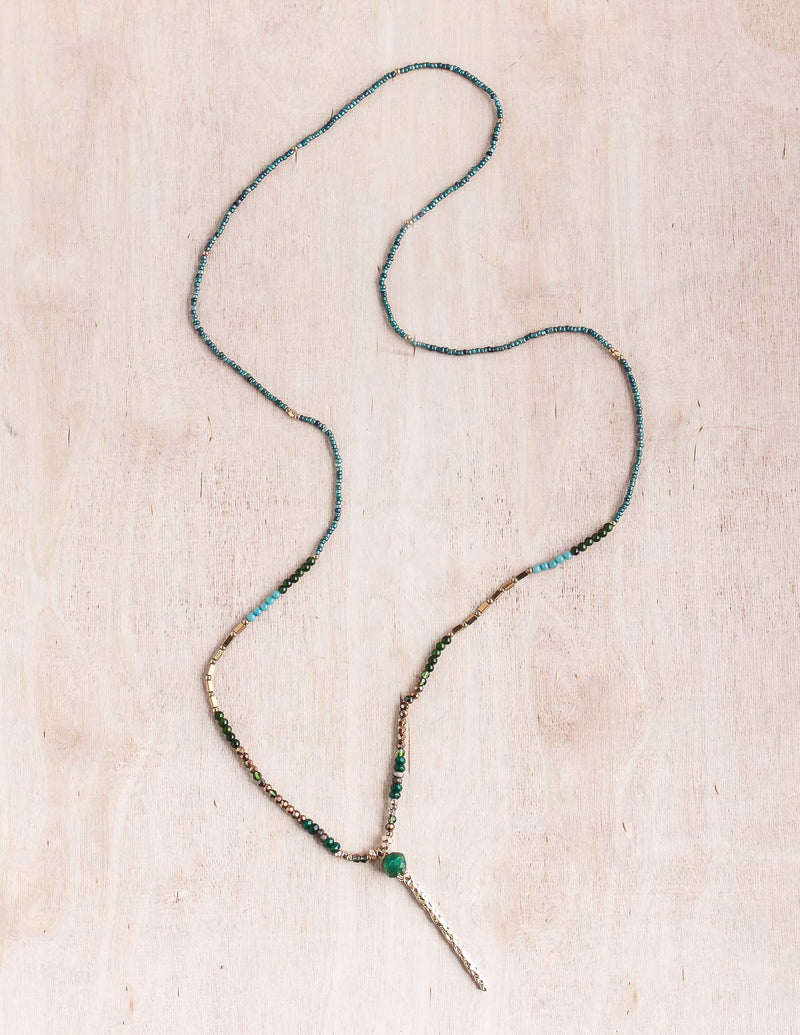 Thai Dainty Gold Bar Necklace