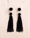 beaded earrings, shoulder duster earring, beaded tassel earrings, coco rose, bali queen