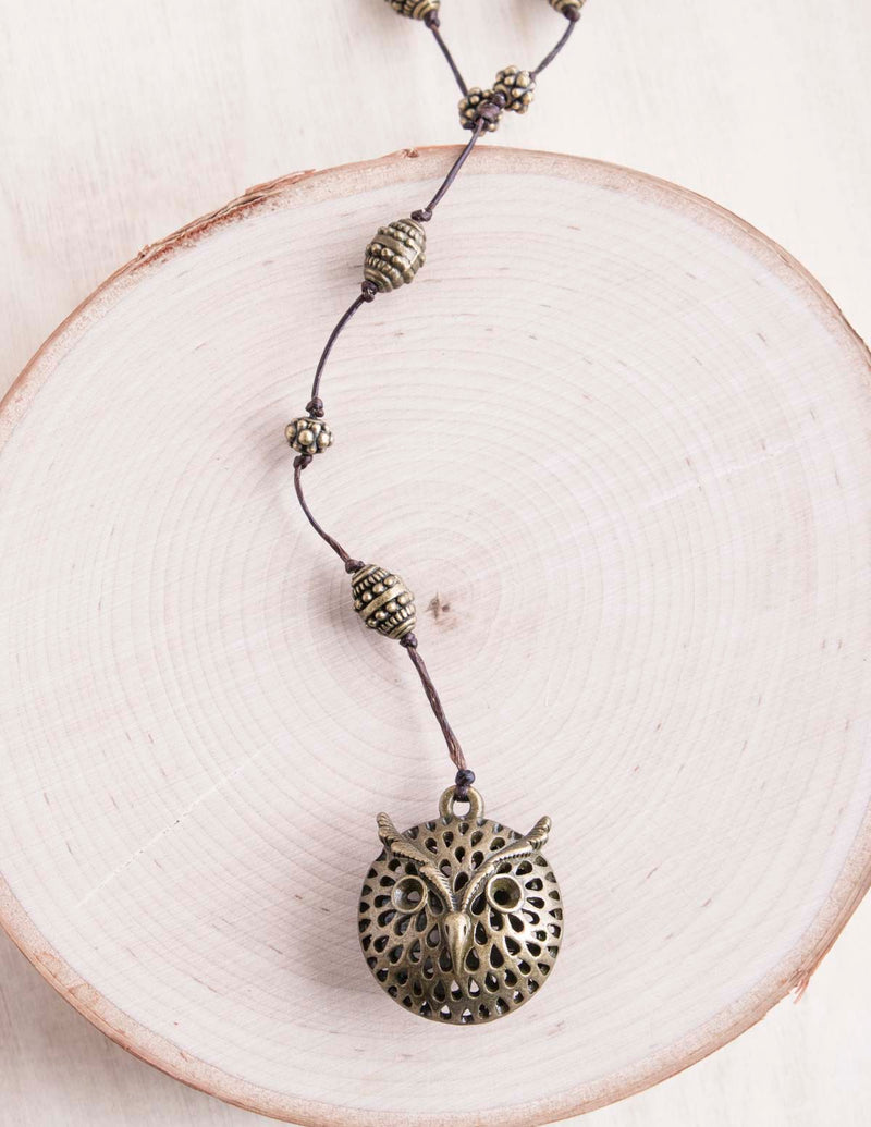 Owl Alloy Necklace