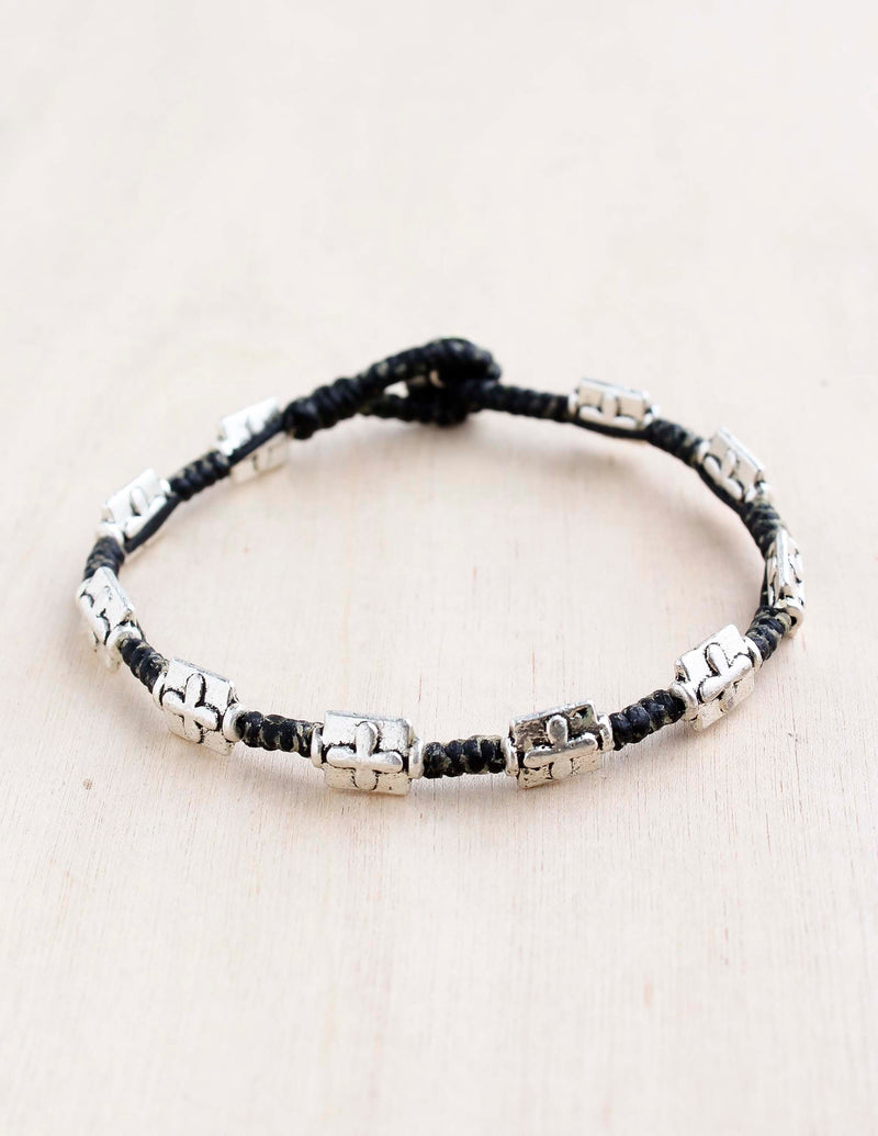 Cross Alloy Bracelet