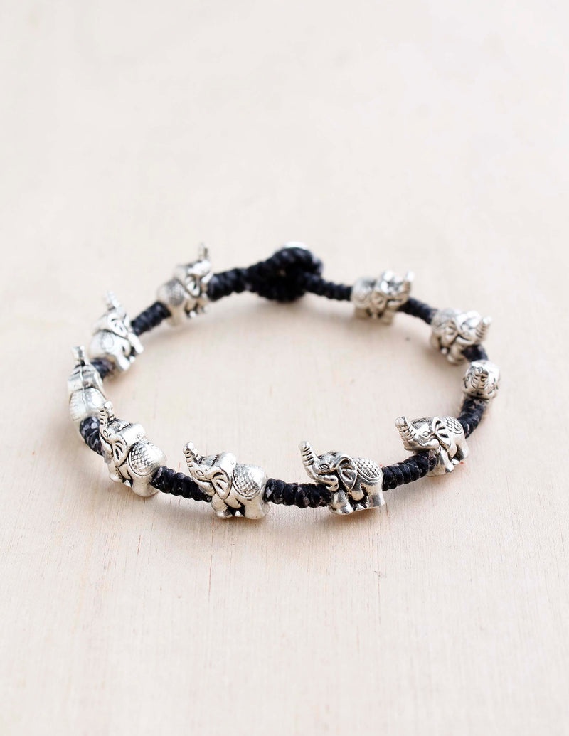alloy, bali queen, coco rose, silver, rhodium, hypoallergenic, tribal jewelry, single strand, elephant, trunk up