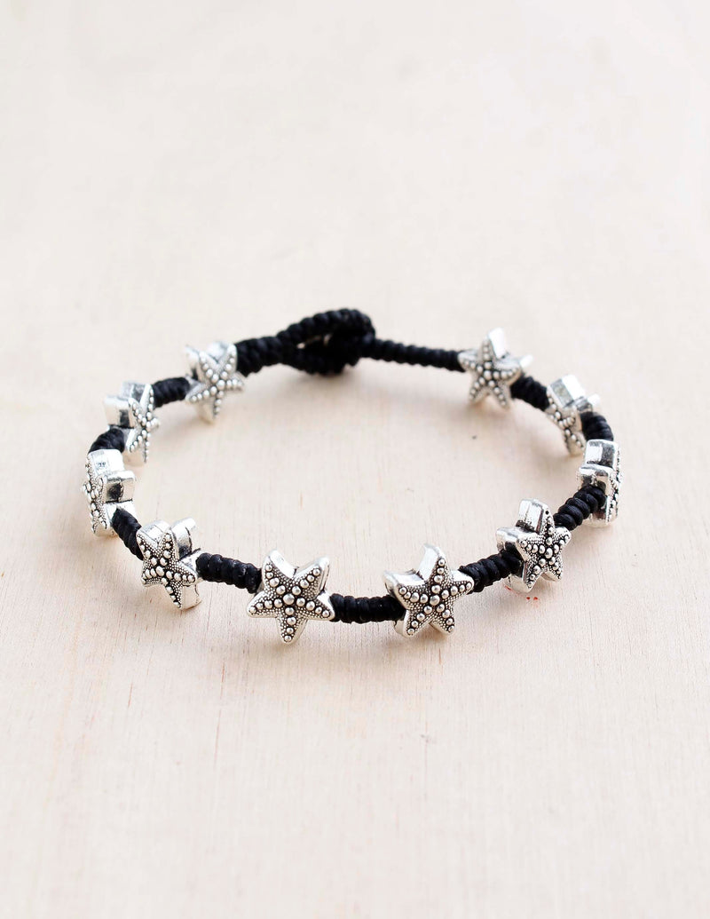 Studded Starfish Alloy Bracelet