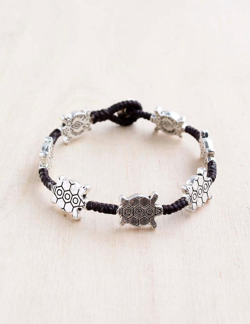 alloy, bali queen, coco rose, silver, rhodium, hypoallergenic, tribal jewelry, single strand, turtle, mosaic turtle