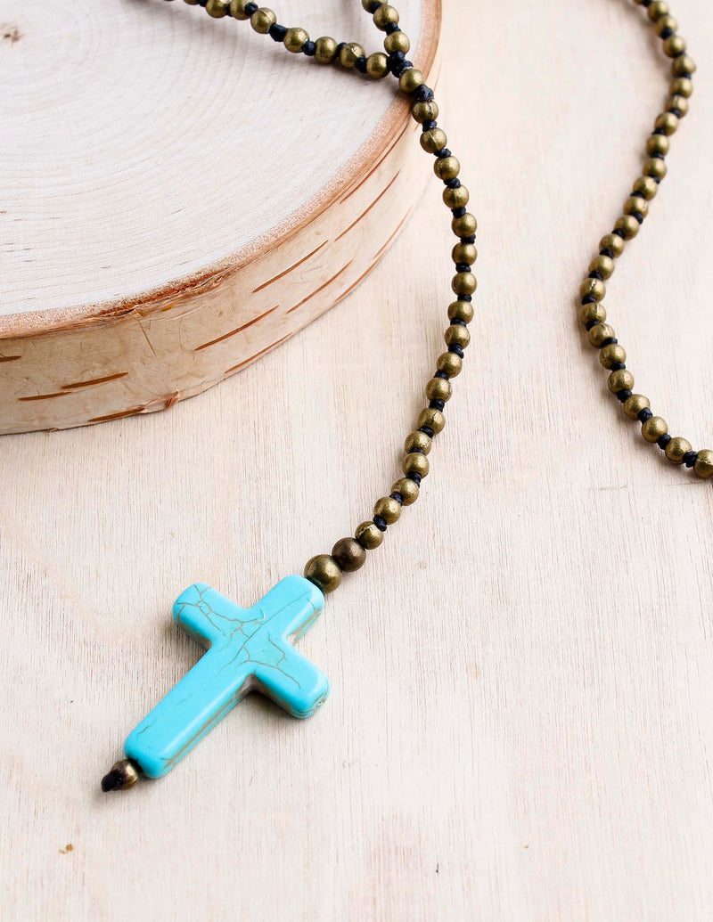 alloy, bali queen, coco rose, silver, rhodium, hypoallergenic, tribal jewelry, cross, cross alloy, turquoise stone, rosemary necklace
