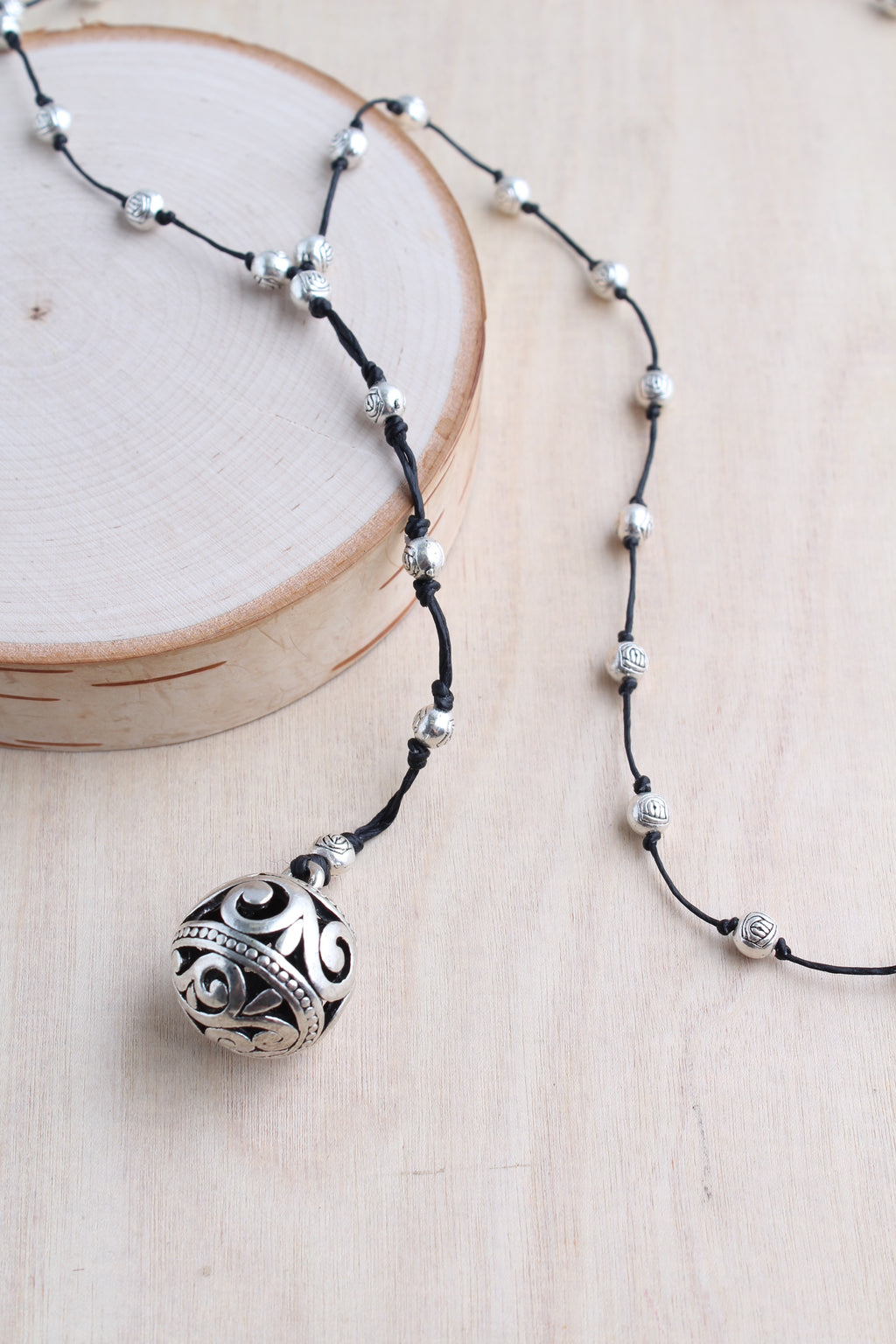 filigree ball,  alloy, bali queen, coco rose, silver, rhodium, hypoallergenic, tribal jewelry