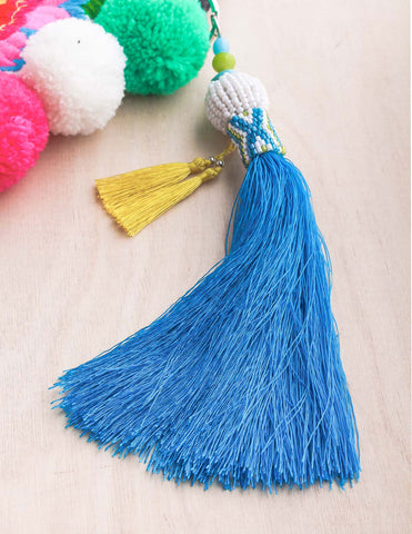 Taja Fan Tassel Earrings