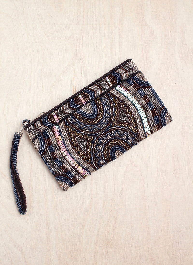 Beaded clutch, coin purse, bali, beaded purse, India style, boho, coin purse, bali queen, coco rose, wristlet, eden