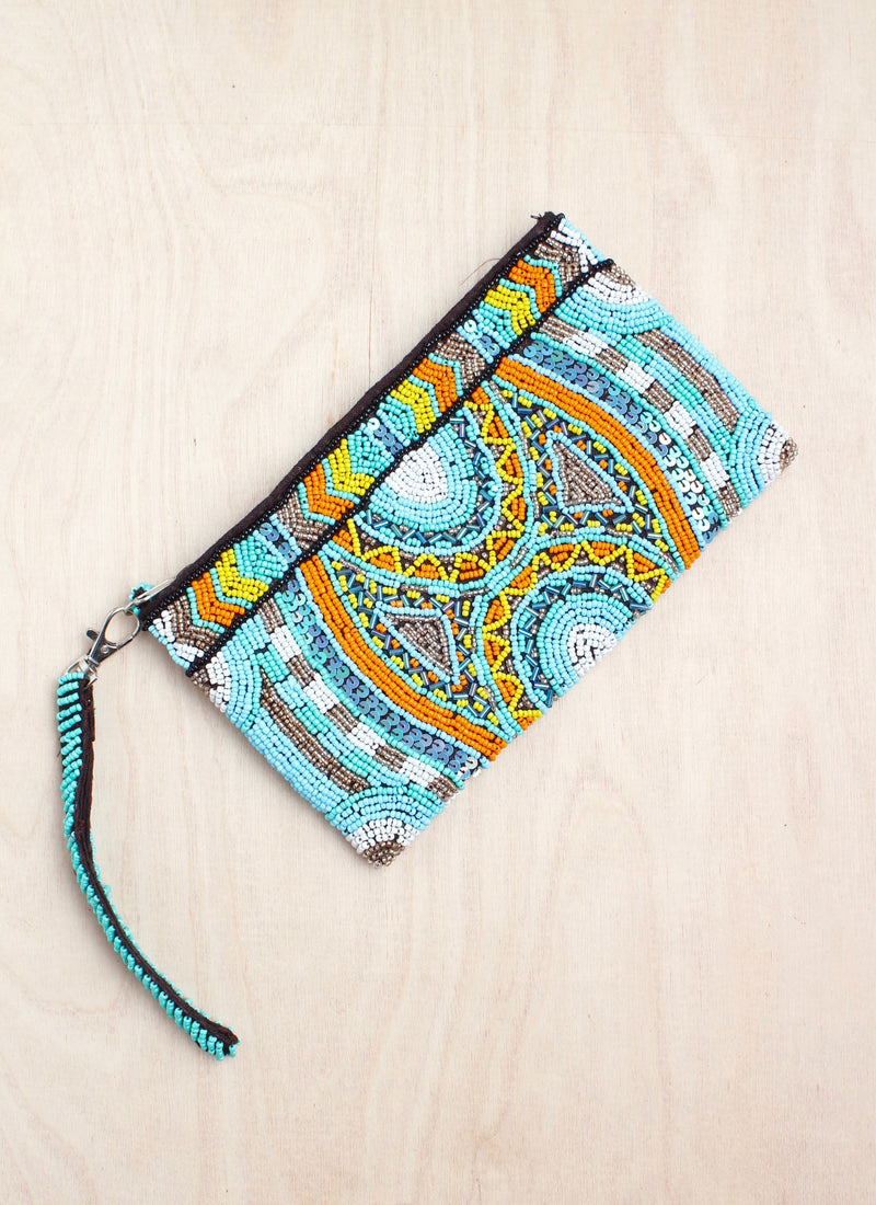 Beaded clutch, coin purse, bali, beaded purse, India style, boho, coin purse, bali queen, coco rose, eden, wristlet