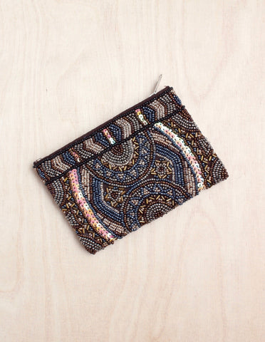 Oversized Beaded India Clutch