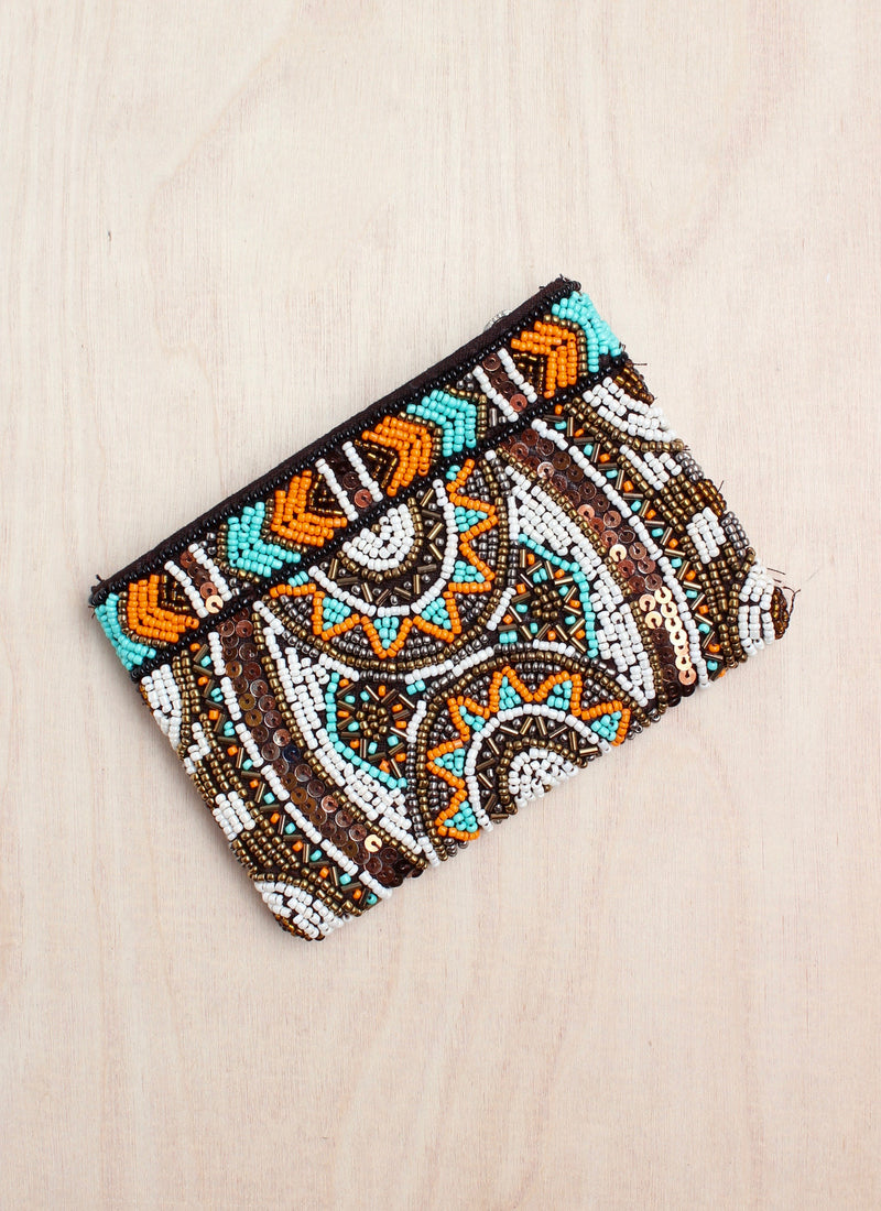 Beaded clutch, coin purse, bali, beaded purse, India style, boho, coin purse, bali queen, coco rose