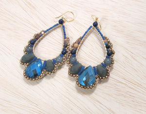 teardrop, Thai crystal, statement earring, dazzle, glam, bali queen, coco rose