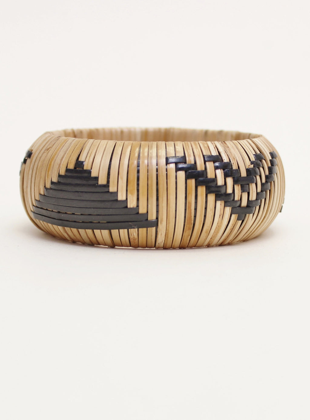 Black Azteca Wicker Bangle
