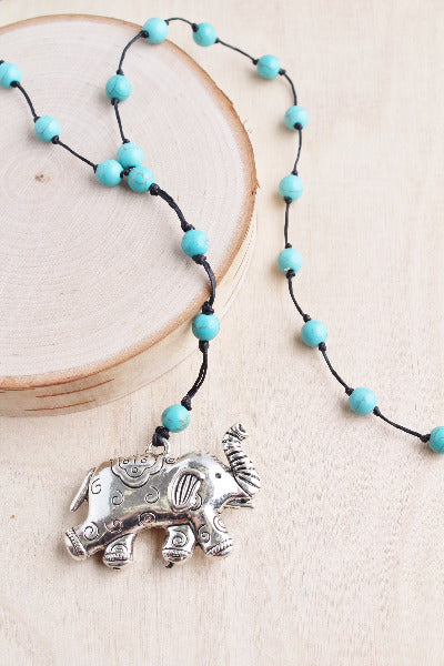 alloy, bali queen, coco rose, silver, rhodium, hypoallergenic, tribal jewelry alloy, bali queen, coco rose, silver, rhodium, hypoallergenic, tribal jewelry, elephant, elephant necklace, turquoise