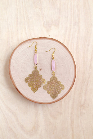 earrings, laser cut, sea glass, bali queen, shoulder duster , gold, coco rose