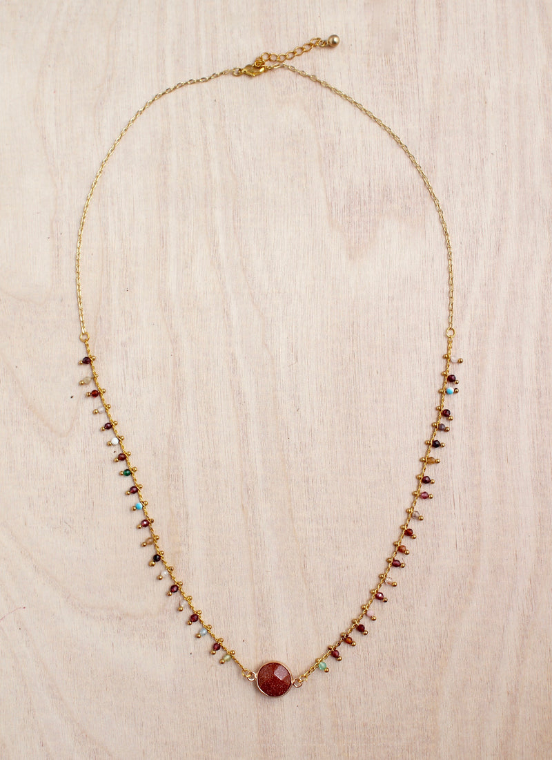 Dew Drop Sunstone Necklace