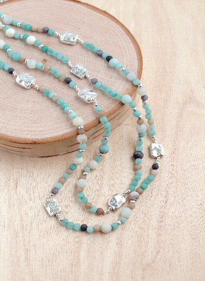 Alabaster Alloy Layer Necklace