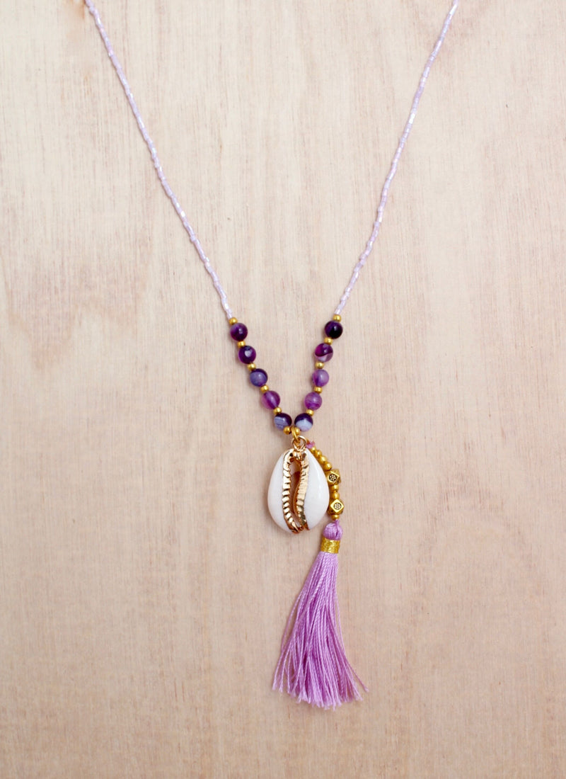 Bali queen, cowrie shells, cowrie jewelry, trendy, coco rose, tassel necklace