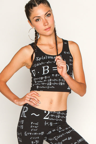 Equations Print Crop Top