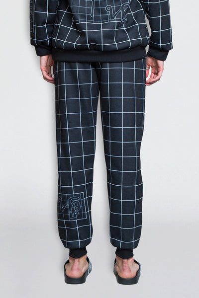 Women's Grid Print Jogger Pants