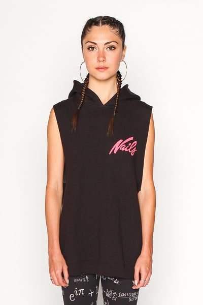 Women's Nails Sleeveless Hoodie