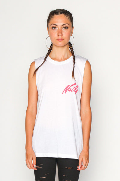 Women's Nails Muscle Tee