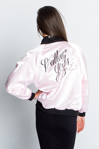 """Valley Girls"" Pink Satin Jacket"