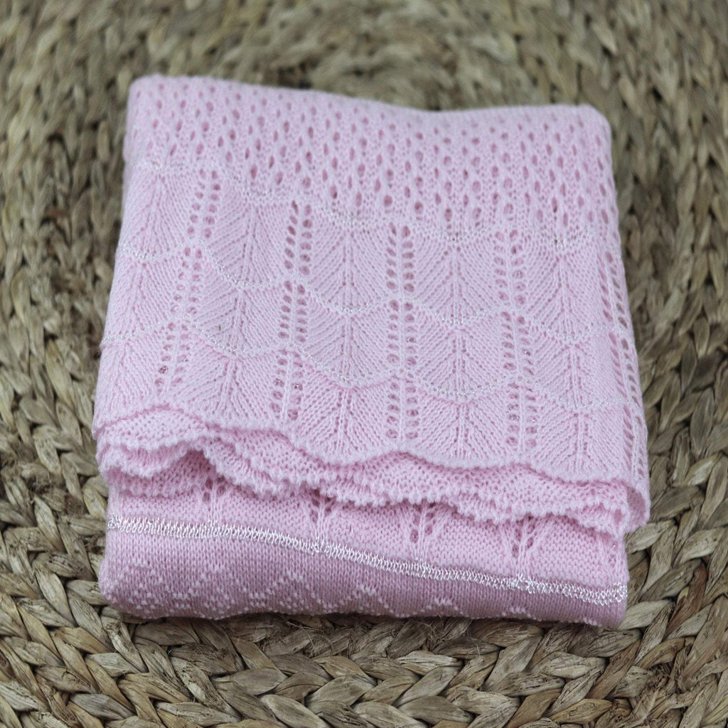 "Knitted baby blanket, Knit baby blanket, Knitted pink-blue baby blanket-  Baby  present  - Take home Baby Blanket 40"" x 50"""