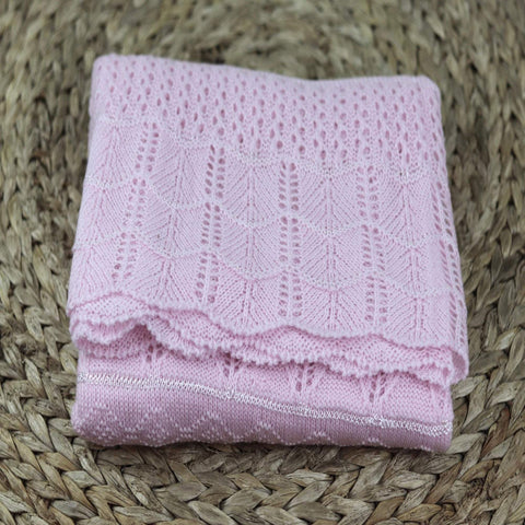 Knitted baby blanket, Knit baby blanket, Knitted pink-blue baby blanket-  Baby  present  - Take home Baby Blanket 40