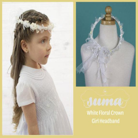 Flower Girl, First Communion Wreath Floral Hair Headpiece