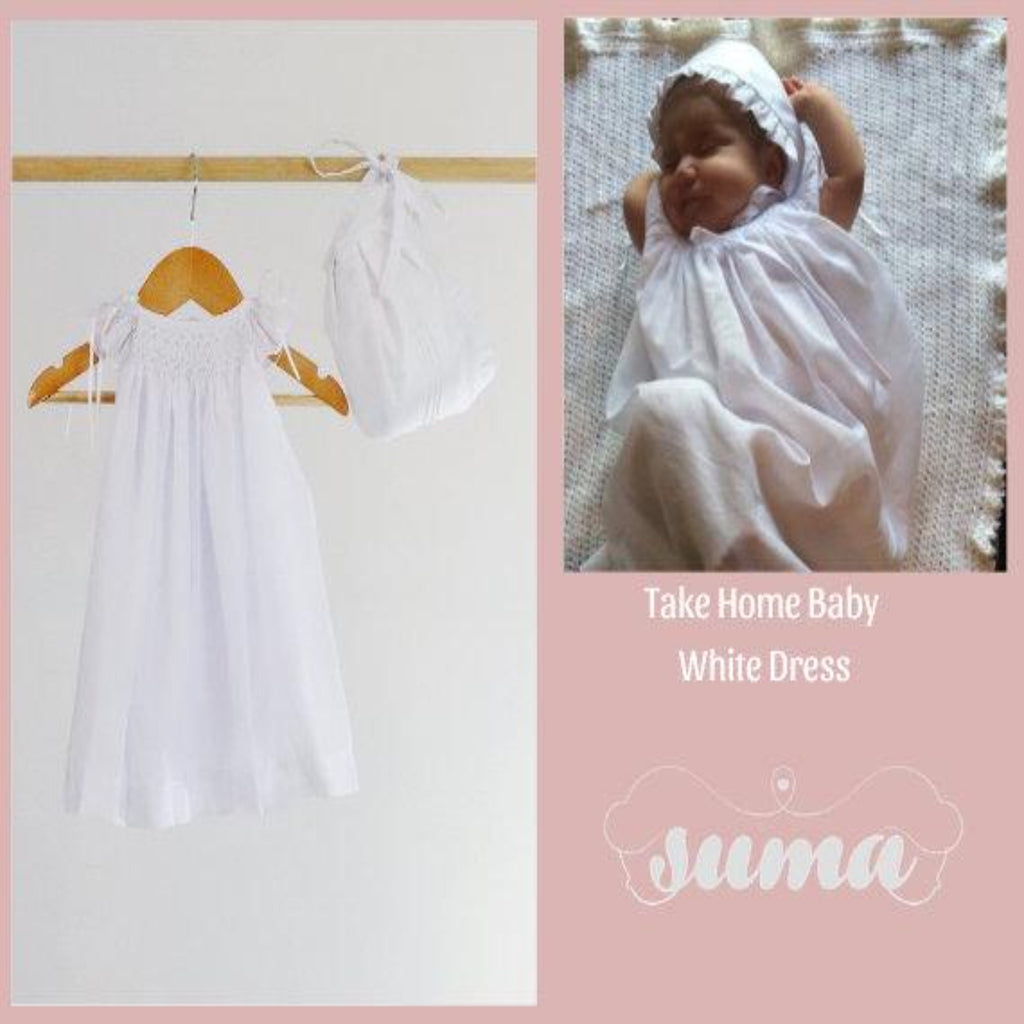 Smocked Dress Newborn Coming Home  Baby Girl Coming Home Outfit Going Home Outfit Newborn Hospital Outfit First Photoshoot Outfit Baby