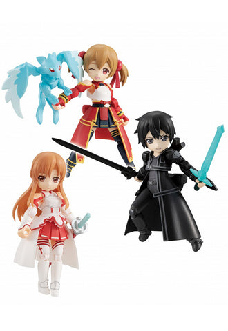 DESK TOP ARMY MEGAHOUSE Sword Art Online Collaboration Vol.1 (ASUNA, KIRITO, SILICA) (Set of 3 Characters)