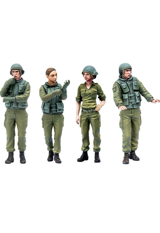 PLAMAX 35-01-02: Israel Defense Forces Tank Crew Set #1