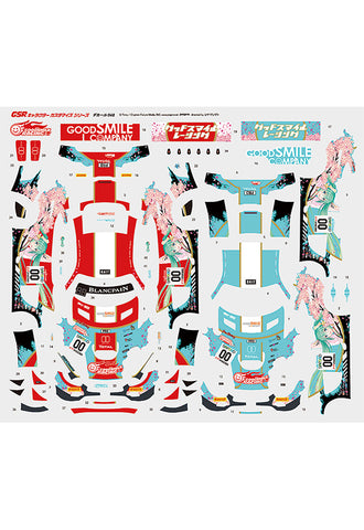 Hatsune Miku GT Project Good Smile Racing  Good Smile Hatsune Miku AMG 2017 SPA24H Ver. 1/24th Scale Decals