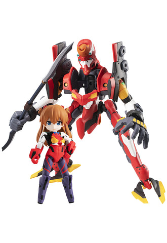 DESKTOP ARMY MEGAHOUSE EVANGELION MOVIE Shikinami Asuka Langley & Evangelion 2