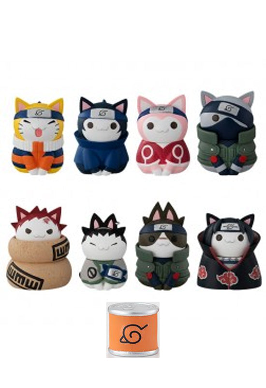 NARUTO-NYARUTO! MEGAHOUSE CATS of KONOHA VILLAGE with premium can mascot (BOX SET)