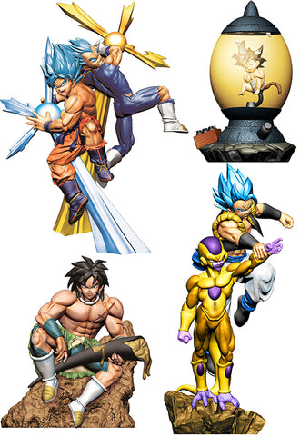 DRAGON BALL MEGAHOUSE DRACAP RE BIRTH Super POWER Ver.(Set of 4 Characters)