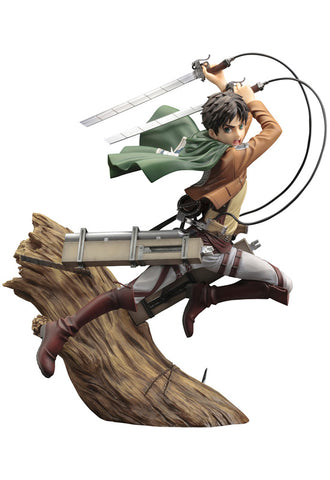 ATTACK ON TITAN Kotobukiya ARTFX J EREN YEAGER (RENEWAL PACKAGE VER.)